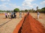 Gli scavi in prossimità della scuola