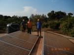 Pannelli fotovoltaici per lil pompaggio dell'acqua